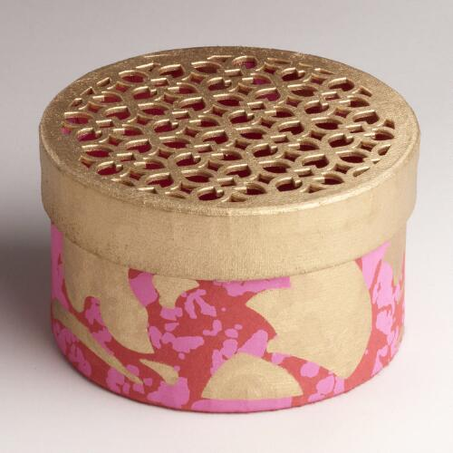 Medium Pink Die-Cut Handmade Gift Box