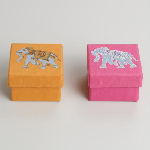 Elephant in Spice and Venice Gift Bags, Set of 2
