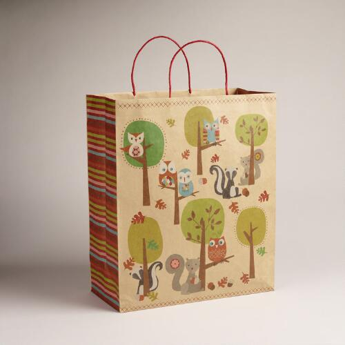 Jumbo Forest Scene Kraft Bag
