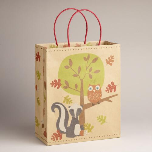 Large Skunk and Tree Kraft Bag