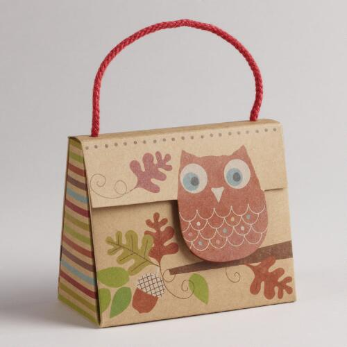 Owl Kraft Candy Purse