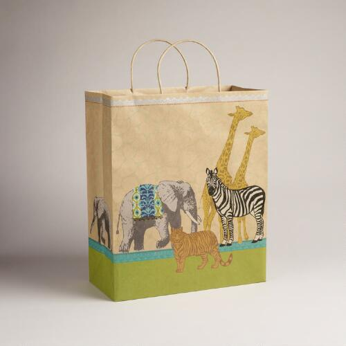 Jumbo Animalia Kraft Bag