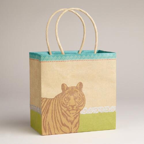 Small Tiger Animalia Kraft Bag