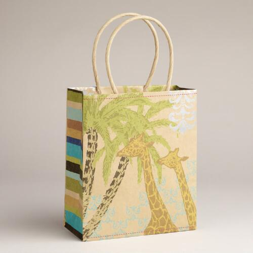 Small Giraffe Animalia Kraft Bag
