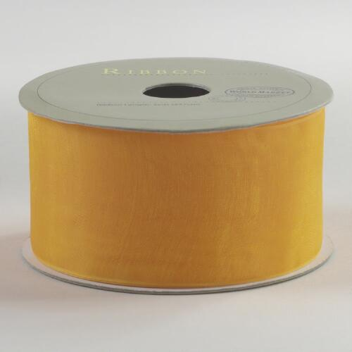 Yellow Organza Ribbon