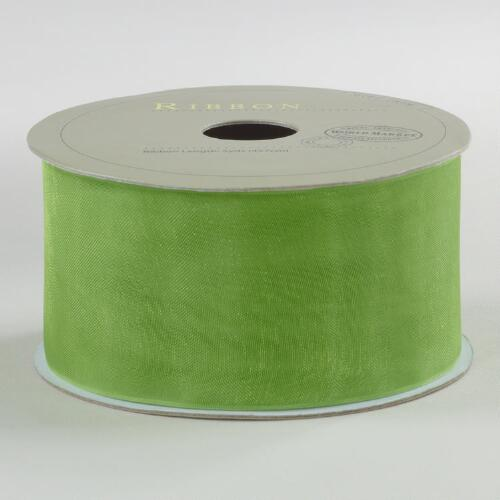 Apple Green Organza Ribbon