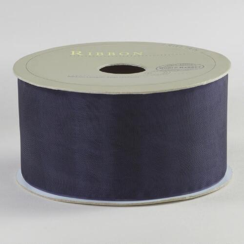 Navy Organza Ribbon
