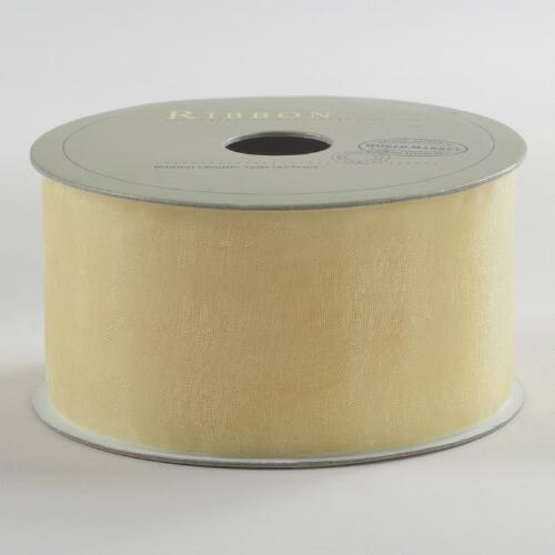 Cream Organza Ribbon