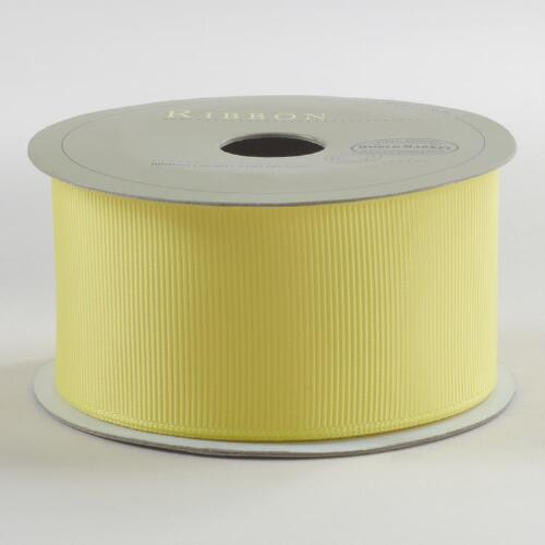 Lemon Yellow Grosgrain Ribbon