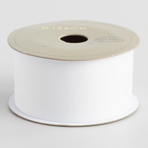 Virtual White Grosgrain Ribbon