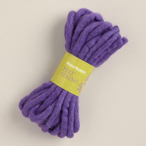 Purple Felt String