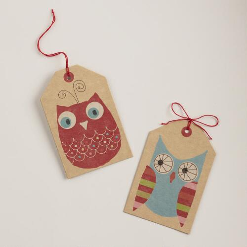 Owl Gift Tag 6-Packs, Set of 2