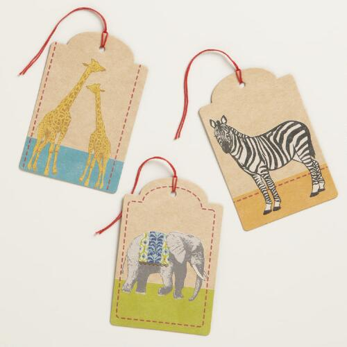 Animalia Gift Tag 6-Packs, Set of 2