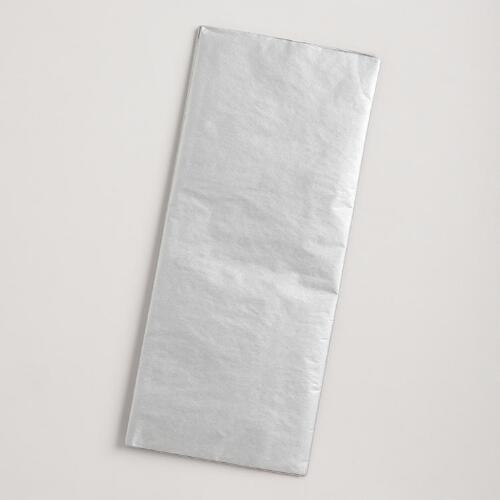 Metallic Silver Tissue