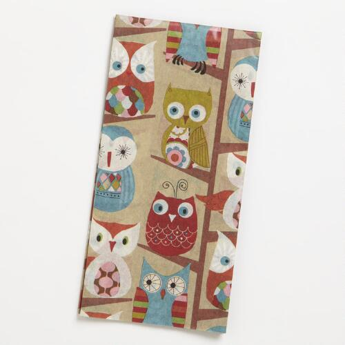 Owls in Trees Tissue Paper