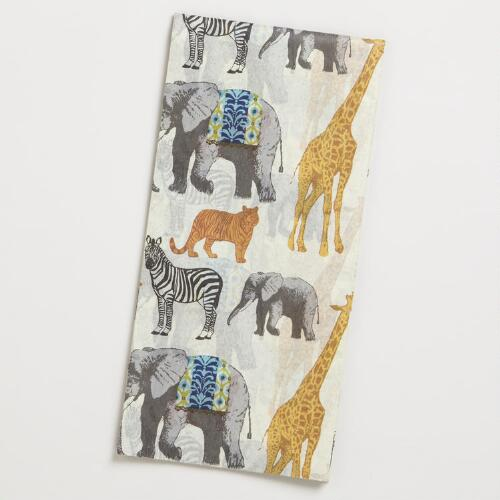 Safari Animalia Kraft Tissue Paper
