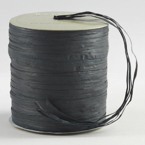 Black Raffia Multi-Tie Ribbon