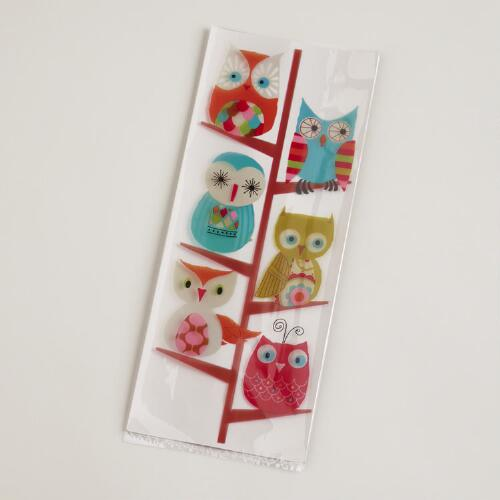 Owls in Tree Cellophane Bag 20-Pack