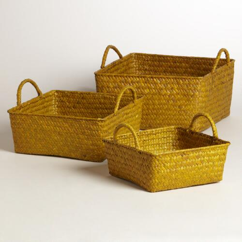 Yellow Square Michelle Basket