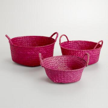 Pink Round Michelle Baskets