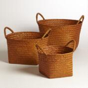 Orange Round Michelle Baskets