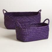 Purple Oval Michelle Basket