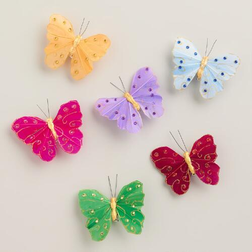 Gold Butterfly Clips, 6-Pack