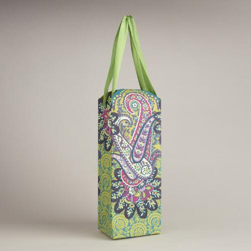 Die-Cut Rialto Handmade Paper Wine Bag