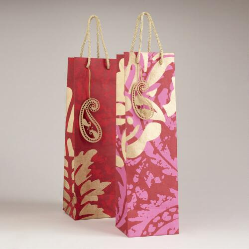 Goyal Handmade Paper Wine Bags, Set of 2