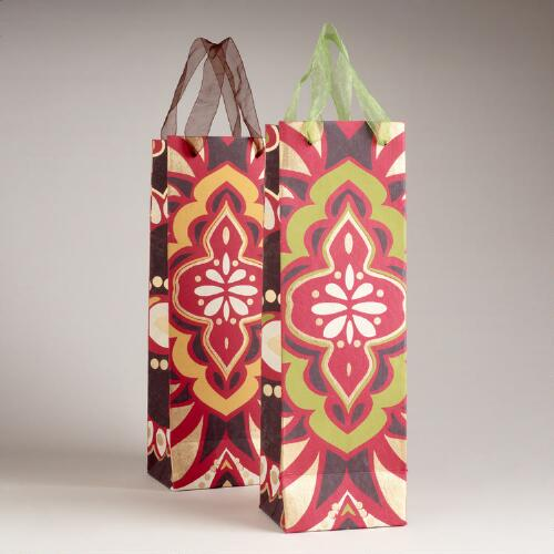 Spice Medallion Wine Bags, Set of 2