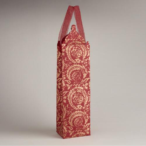 Die-Cut Giovanni Dome Handmade Paper Wine Bag
