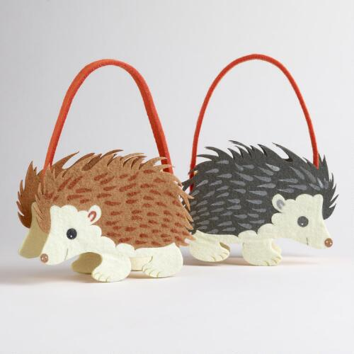 Hedgehog Felt Containers, Set of 2