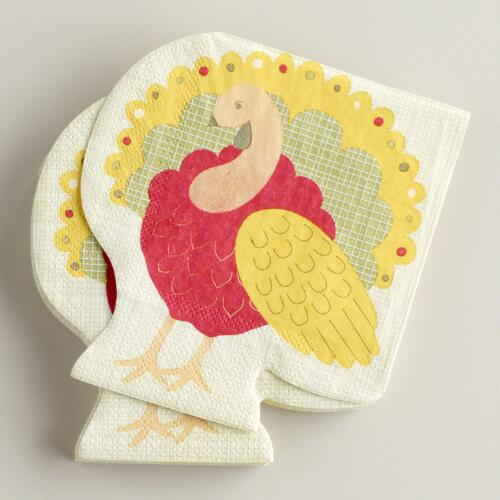 Turkey Die-Cut Beverage Napkins