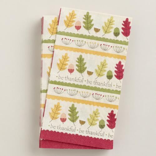 Harvest Scatter Guest Napkins, Set of 16