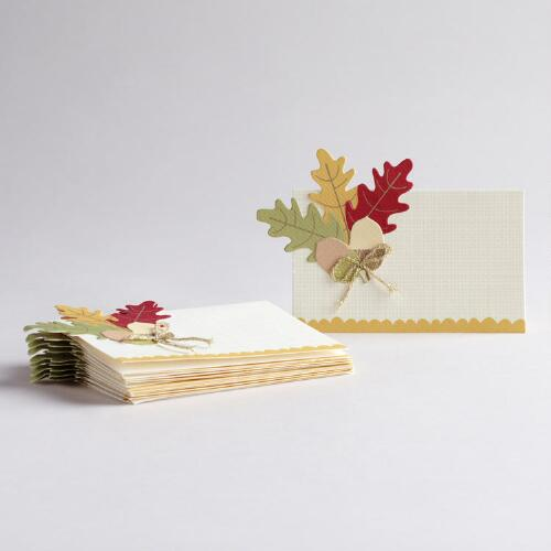 Harvest Place Cards, Set of 10