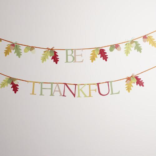 Be Thankful Banner