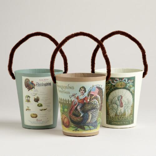 Thanksgiving Paper Containers, Set of 3