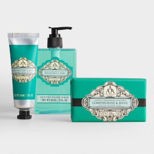 AAA Lemongrass and Basil Soap and Lotion Collection