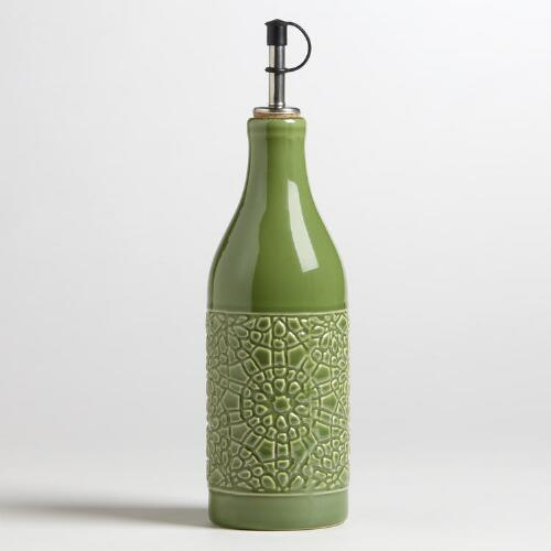 Verde Ceramic Venetian Oil Bottle