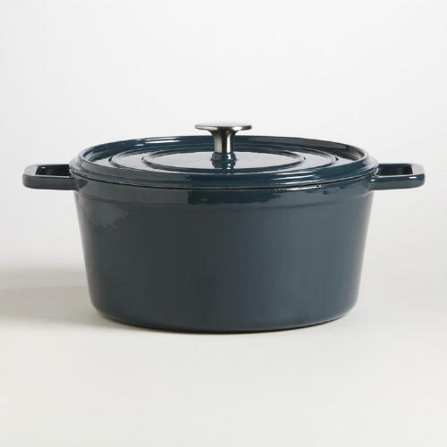 Turkish Blue Round Dutch Oven