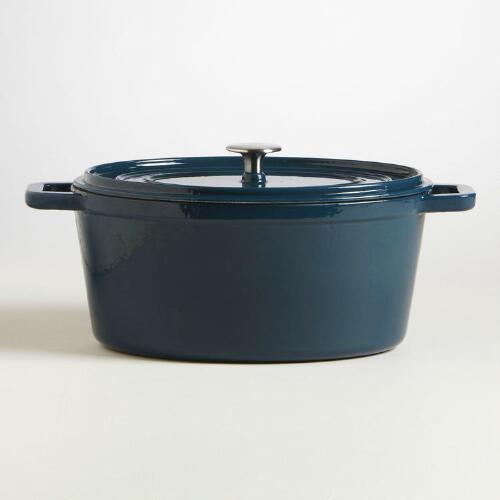 Turkish Blue Oval Dutch Oven