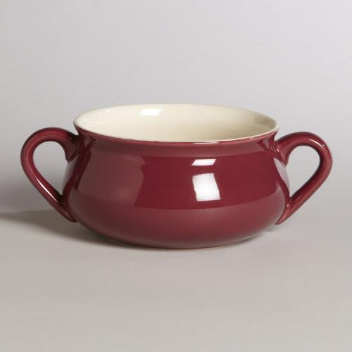 Merlot Double-Handled Soup Crock