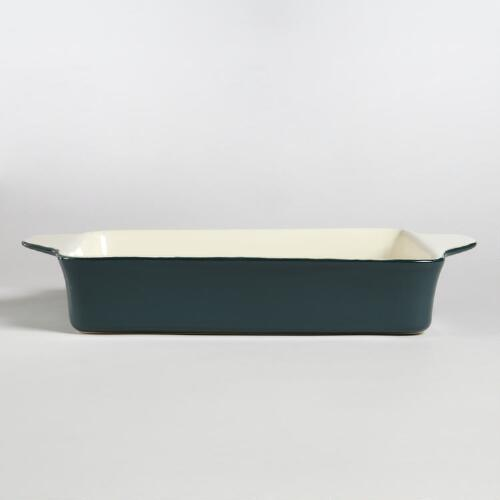 Dark Teal Rectangle Open Baker