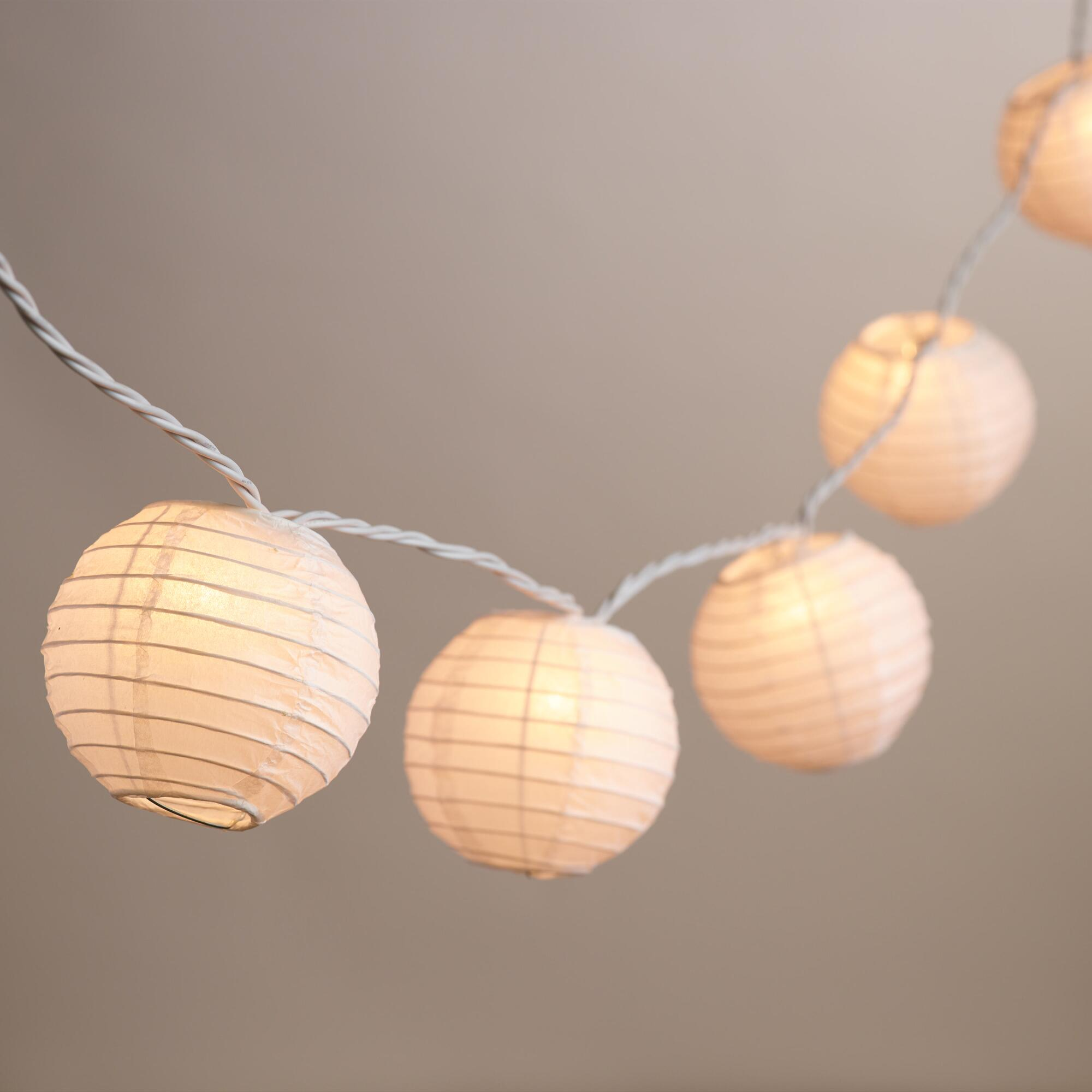 String Lights With Round Bulbs : Round Paper 10 Bulb String Lights World Market