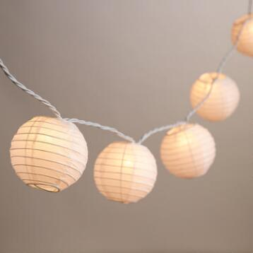 Round Paper 10 Bulb String Lights