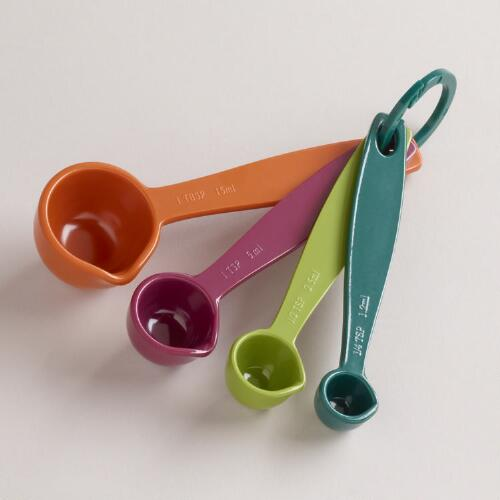 Fall Colors Melamine Measuring Spoons, Set of 4