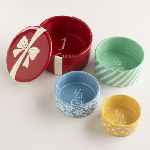 Holiday Measuring Cups, Set of 4