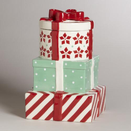 Stacking Gifts Cookie Jar