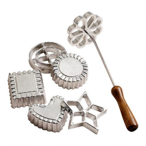 Rosette and Timbale Set, 6 Piece Set