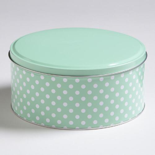 Mint Dots Round Tin